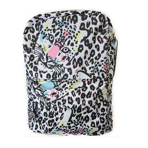 Leopard Backpack White Black pink Girls Bin2